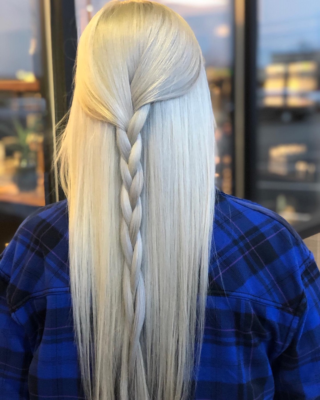 blonde braided hair